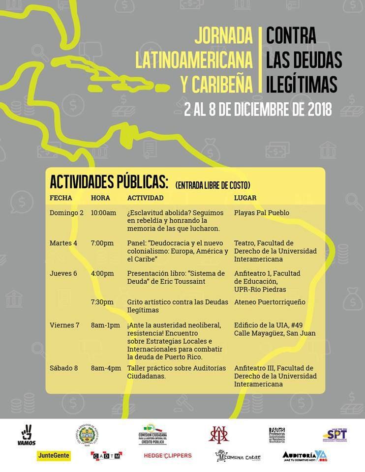 Jornada Latinoamericana y Caribeña en contra de las deudas ilegítimas