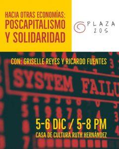 """Plaza 20S presenta """"Hacia otras economías: postcapitalismo y solidaridad"""""""